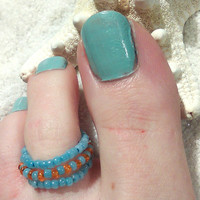 Beaded Toe Ring-Stackable-Foot Accessories - Foot Ring - Foot Jewelry -Toe Rings- Gifts Under 10-Get one Free