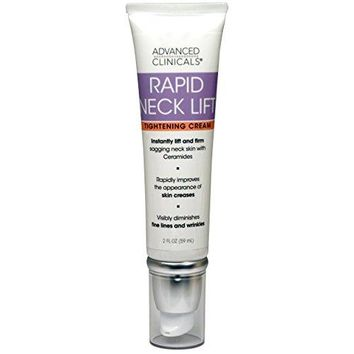 [Pack of 2] Advanced Clinicals Rapid Neck Lift Tightening Cream. Anti-Aging daily firming moisturizer for sagging skin,...