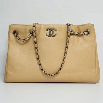 DCCKG2C Chanel Camel Shopping Bag