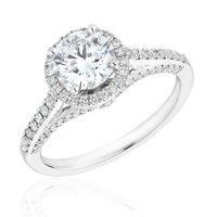 Forevermark Round Diamond Halo Ring 11/2ctw