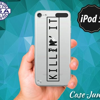 Killin' It Quote Box Tumblr Inspired Funny Cute Rubber Transparent Clear Case For iPod Touch 5th Generation or iPod 6th Gen