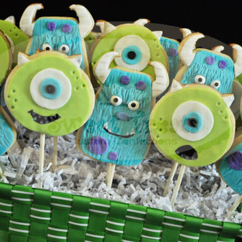 monster inc cookies (mike and sully)