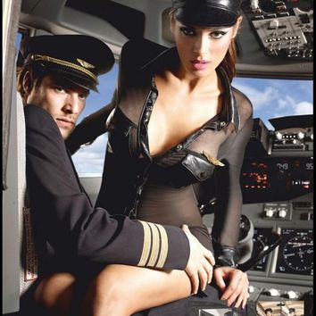 Sexy Airline Pilot Costume in 3X/4X