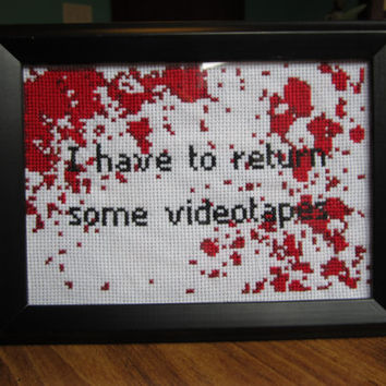PATTERN American Psycho Blood Spatter Cross Stitch