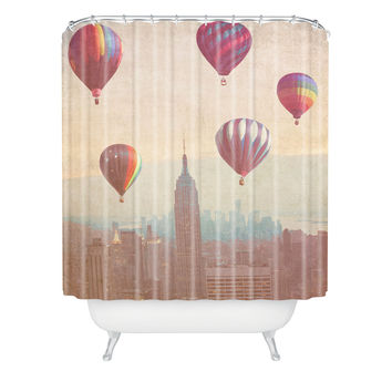 Maybe Sparrow Photography Balloons Over Midtown Shower Curtain
