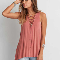 AEO SOFT & SEXY LACE-UP JEGGING TANK