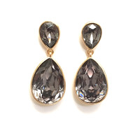 Shining Coal Dange Earrings