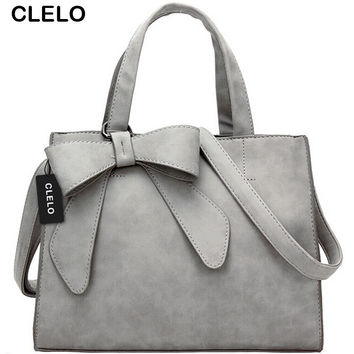 CLELO Women Handbag Fashion Brands Tote Bag High Quality PU Bow Bags Shoulder bags Messenger Bags For Women Ladies