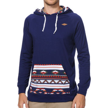 Empyre Geothreadz Navy Pocket Print Hooded Knit Shirt at Zumiez : PDP