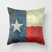 """The """"Lone Star Flag"""" of Texas Throw Pillow by Bruce Stanfield"""