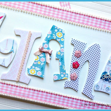 Children's Custom, Personalized Name Plaques - Kids Name Sign - Nursery & Bedroom Door Sign - Wall Letters - Made to Order