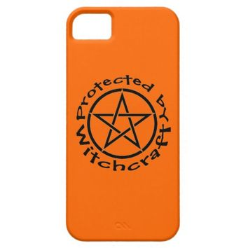 Protected by Witchcraft Orange Wiccan iphone case