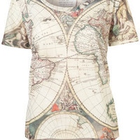 Atlas Map Tee By Tee And Cake - New In This Week  - New In