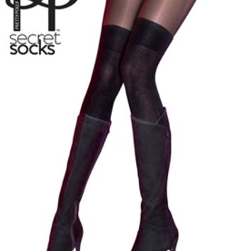 Secret Socks over the knee sock tights