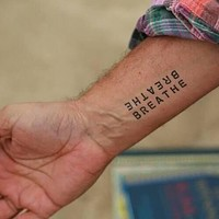 Breathe Temporary Tattoo