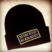 Mischief Managed Knit Beanie. Adult One Size Fits Most. from Evangelina's Closet