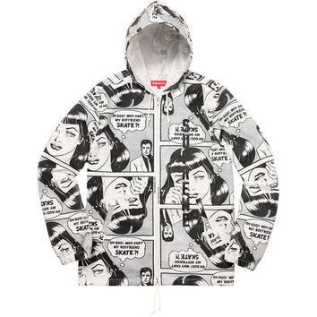 Supreme: Supreme?/Thrasher? Boyfriend Hooded Zip Up Jacket - White