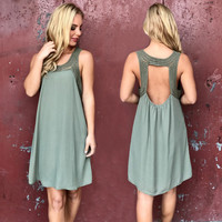 My Only Love Shift Dress In Olive
