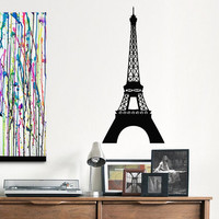 Urban Wall Decals Paris Eiffel Tower Wall Decal Vinyl Sticker Travel France Paris Wall Art Bedroom Living Room Office Street Art Decor 0045
