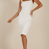 Talk It Out dress in White Produced By SHOWPO