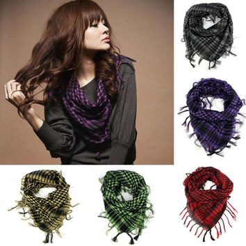 2017 Women Men's Autumn Winter Warm Kerchief Scarf Unisex Plaid Tassels Wrap Shawl Arab Shemagh Keffiyeh Palestine Scarf Bufanda