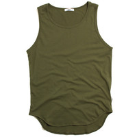 Original Long Tank Top Olive