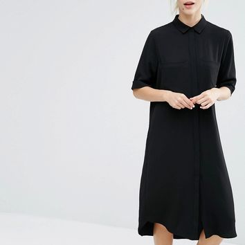 Monki Midi Shirt Dress