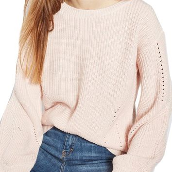 Topshop Open Back Sweater | Nordstrom