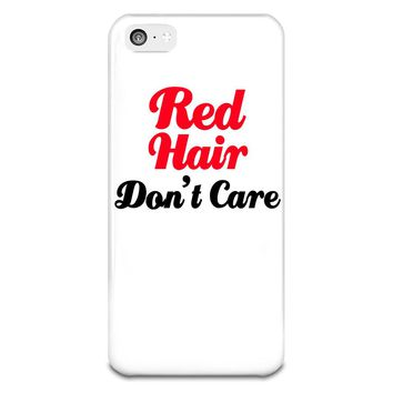 Red Hair Don't Care, iPhone 5-5s Plastic Case