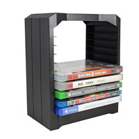 NI5L Multifunctional Disk Storage Tower with Controller Charging Dock and Console Stand Holder Kit Support for PS4