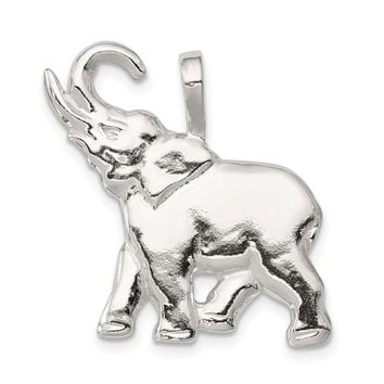 925 Sterling Silver Elephant Charm and Pendant
