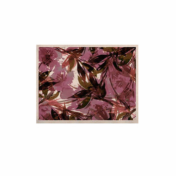 "Ebi Emporium ""Floral Fiesta Mauve Pink"" Pattern Watercolor KESS Naturals Canvas (Frame not Included)"