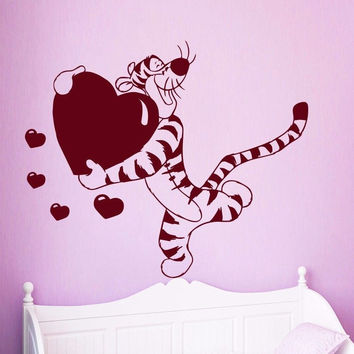 Winnie The Pooh Wall Decals Tiger Decal Nursery Kids Room Decor Sticker MR461