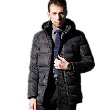 Brand Men Winter JACKET Duck Down Parka Down Coat Thick Long Manteau Homme Hiver Male Overcoat Tops Extra Large Size Winterjas
