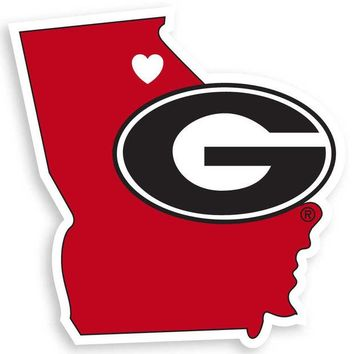 DCCKG8Q NCAA Georgia Bulldogs Home State Decal