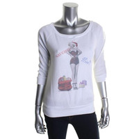 Marilyn Monroe Womens Thermal Raglan Sleeves Pullover Top