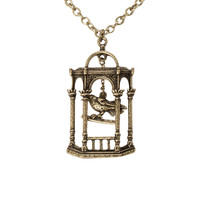 LOVEsick Bird Cage Necklace