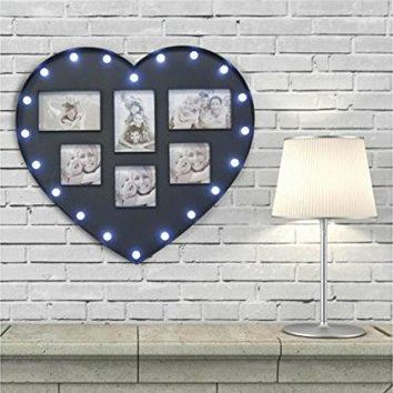 LED Heart Photo Frame - Pack of 3