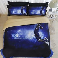 3d nba kobe bryant beddings set single queen king size be sheet bed linen unique cotton duvet covert and los angeles lakers  number 3
