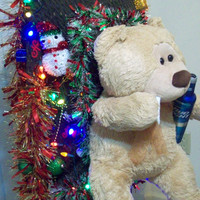 """TED"""" The drinking smoking Ugly Christmas Sweater size Extra Large (XL) Crazy Tacky Party Sweater with lights"""