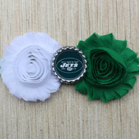 NFL New York Jets inspired headband- perfect for football season!  Baby Jets Headband Girl Jets Headband