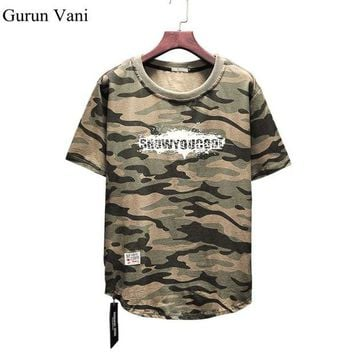 DCCKFS2 New 2018 Mens Camouflage T Shirts Letter Print T-Shirts Fashion Casual Cotton TShirts Tees Top Quality Plus Size:S-5XL Free Ship