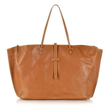 The Bridge Designer Handbags Mahe Cognac Leather Large Tote