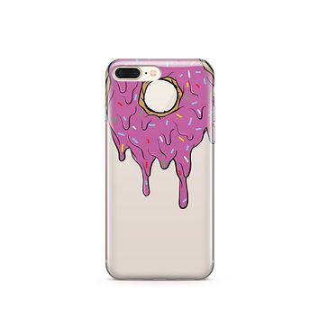 CLEARANCE iPhone 7 / 7 Plus Clear Case Cover - Gooey Donut