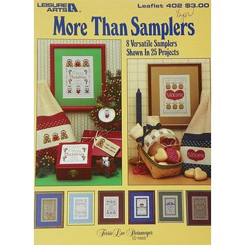 More Than Samplers - Counted Cross Stitch Leaflet - Leisure Arts