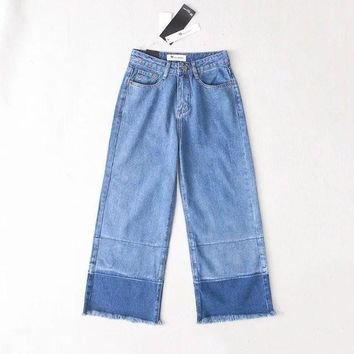 Summer Vintage High Waist Patchwork Pants Jeans [8864415111]