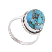 STERLING SILVER NEPHTHYS TURQUOISE RING