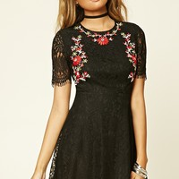 Embroidered Eyelash Lace Dress