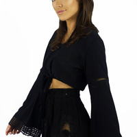 Sea Dreamer Lulu Embroidery Shorts Black