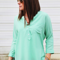 Mint For Me Blouse